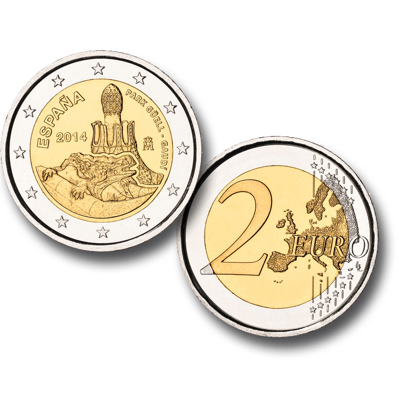 2-euro proof coin. Click to see enlarged. Opens in new window. Abre en ventana nueva