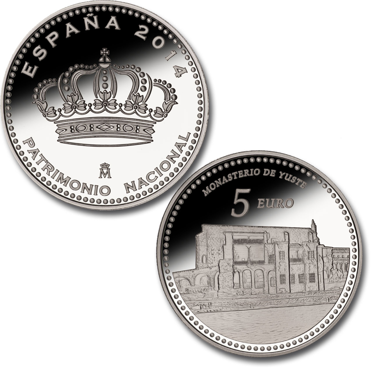 Monastery of Yuste –4 reales silver. Click to see enlarged. Opens in new window.. Abre en ventana nueva