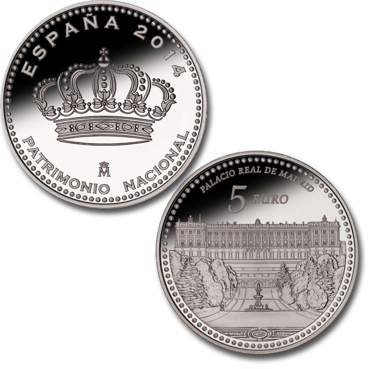 Madrid Royal Palace –4 reales silver. Click to see enlarged. Opens in new window.. Abre en ventana nueva