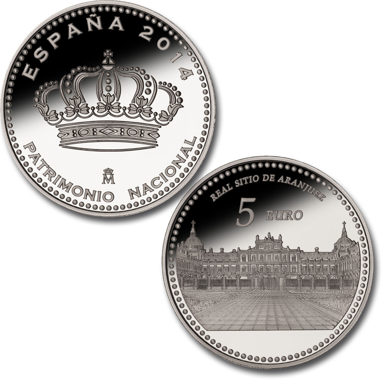 Royal Site of Aranjuez –4 reales silver. Click to see enlarged. Opens in new window.. Abre en ventana nueva