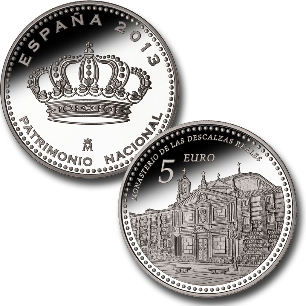 The Convent of Las Descalzas Reales (The Royal Barefoot Nuns) – 4 reales silver. Click on image to see larger image. Abre en ventana nueva