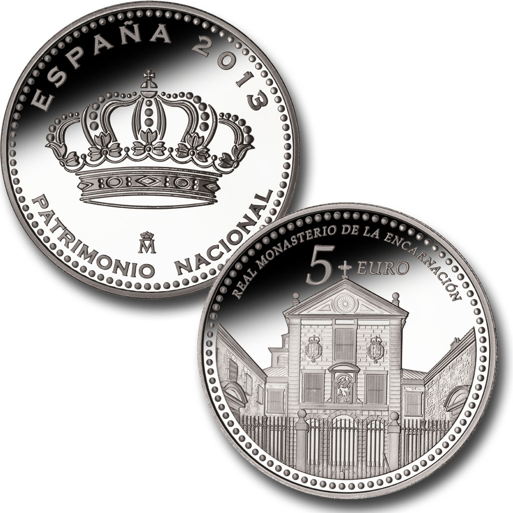 The Royal Convent of the Incarnation – 4 reales silver. Click on image to see larger image. Abre en ventana nueva
