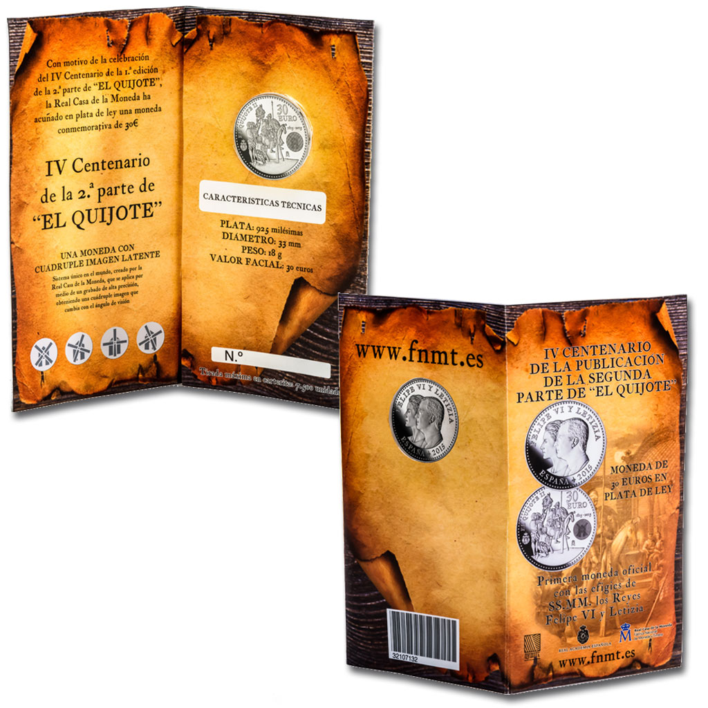 Coin case for the 30-euro coin. Click to see enlarged. Opens in new window.. Abre en ventana nueva
