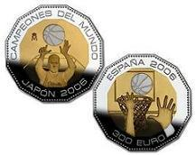 Obverse and reverse Bi-metal coin. World Basketball Champions - Japan 2006