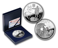 Cincuentin silver Quincentenary Christopher Columbus