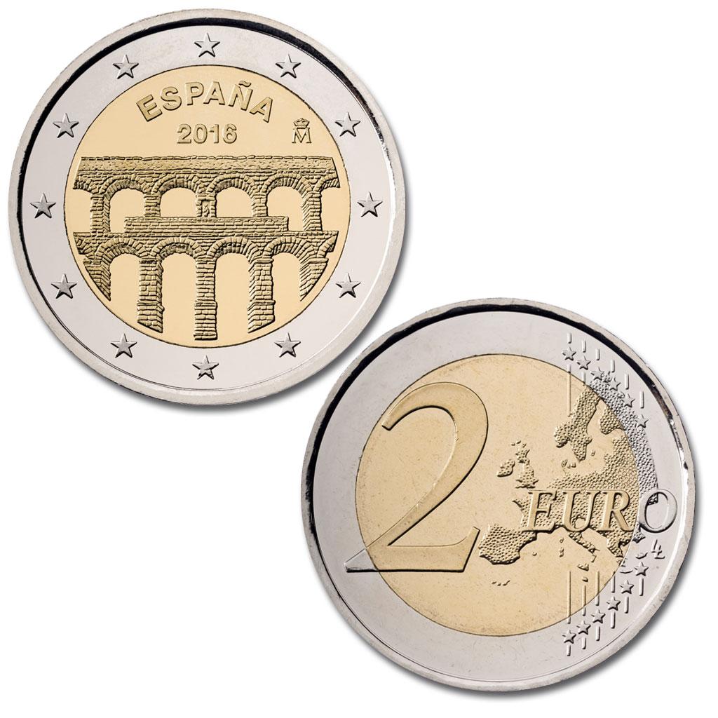 2 Euros conmemorativa - Acueducto de Segovia. Abre en ventana nueva