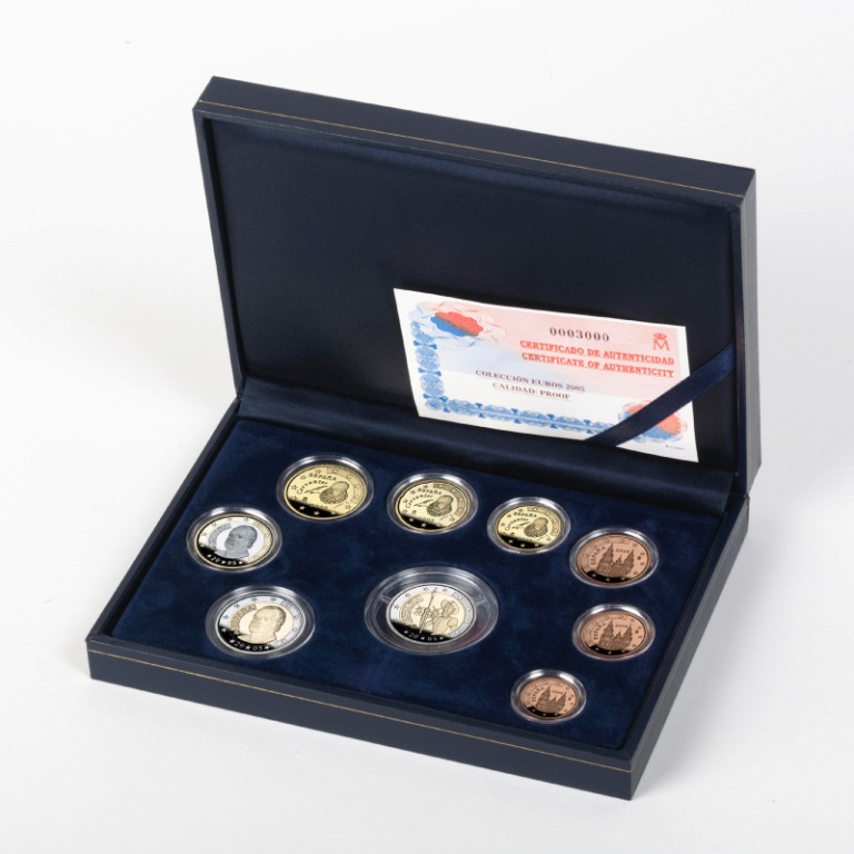 Complete set Euro coinage 2005-Proof. Abre en ventana nueva