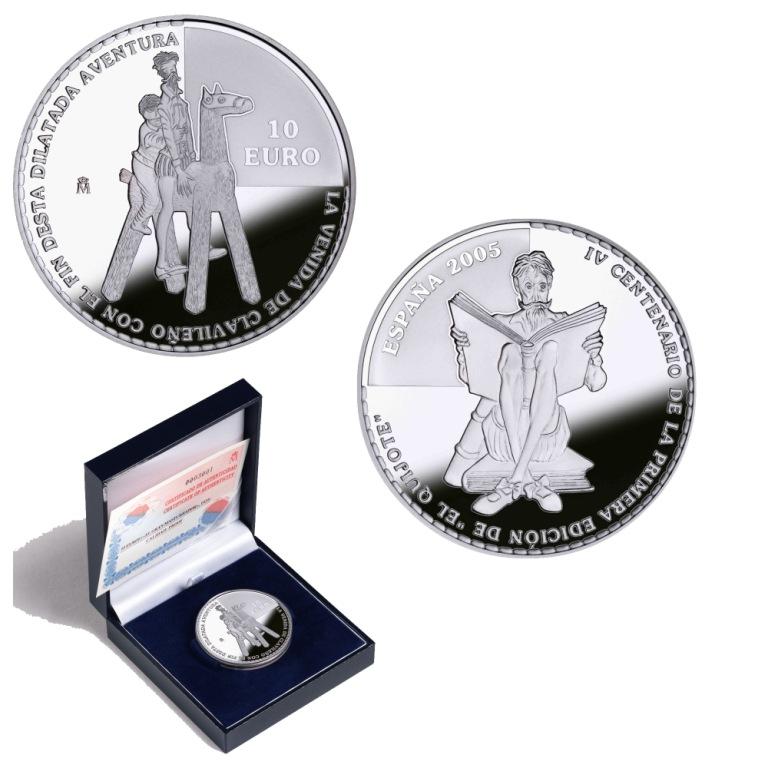 8 reales plata:Clavileño IV Centenario de la publicación de El Quijote. Abre en ventana nueva