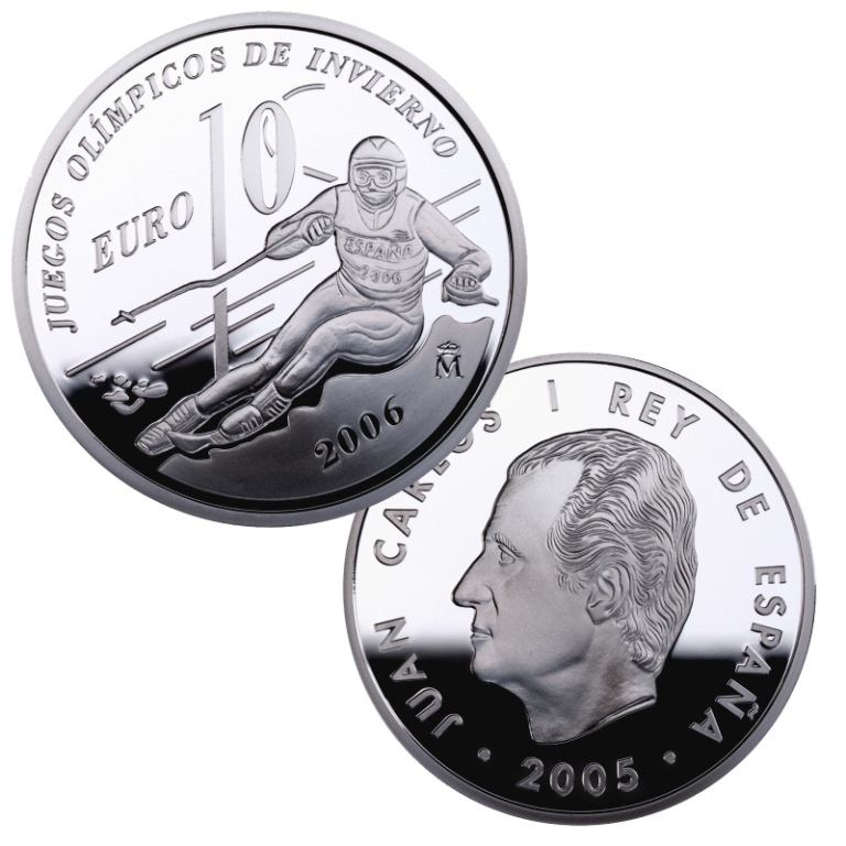 Obverse and reverse 8-reales silver The Winter Olympic Games 2006. Abre en ventana nueva