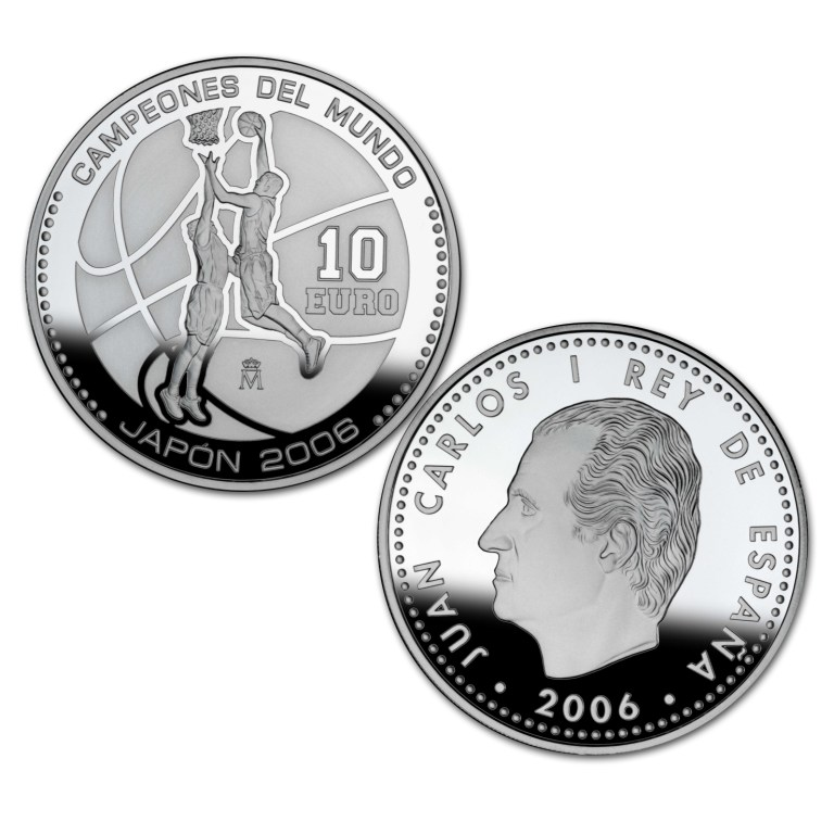 Obverse and reverse 8-reales silver. World Basketball Champions - Japan 2006. Abre en ventana nueva